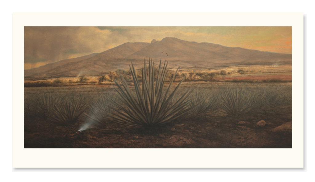 """Giclée - """"Tarde de Cuervos"""" 71x155cm"""