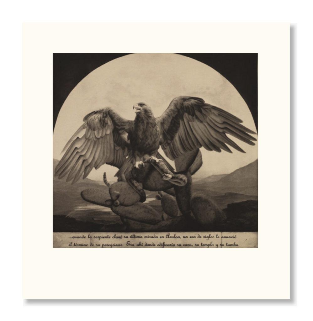 """Grabado - """"El Águila"""", 63x57cm"""
