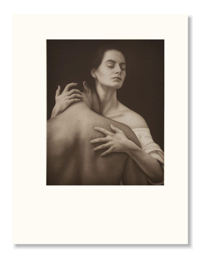 """Grabado - """"El Abrazo"""", 57x67cm"""