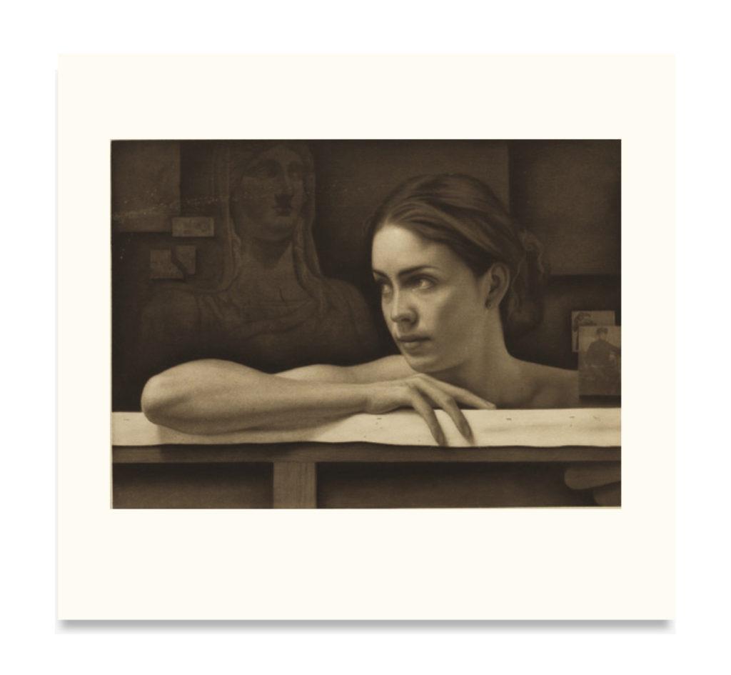 """Grabado - """"Tiempo de diosas y recuerdos"""", 58x54cm"""