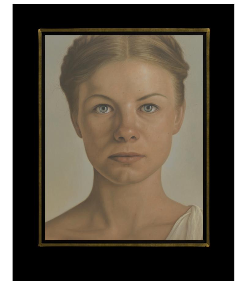 Mujer de Stalingrado - Óleo sobre Tela